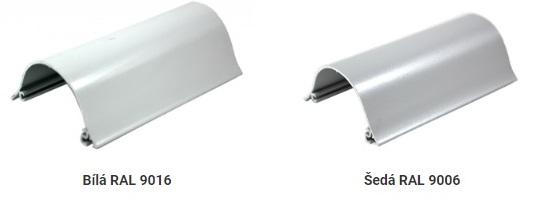 bílá a šedá hliníková kazeta